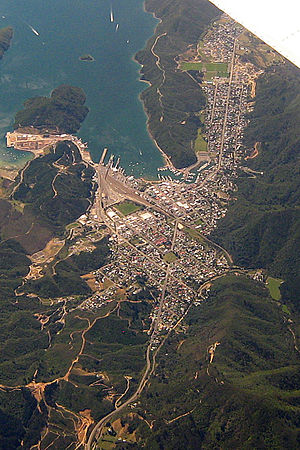 Picton, New Zealand - Picton from the air.