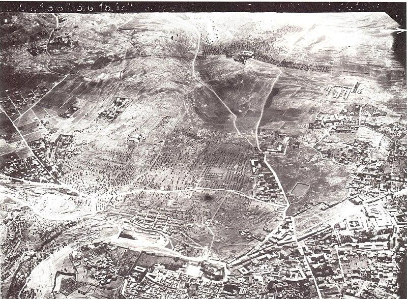 טיסת צילום מעל ירושלים 1918