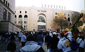 Pitt Stadium - Pitt Stadium at the University of Pittsburgh prior to its last game — 1999