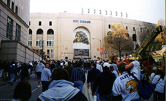 Pitt Stadium - Pitt Stadium at the University of Pittsburgh prior to its last game — 1999