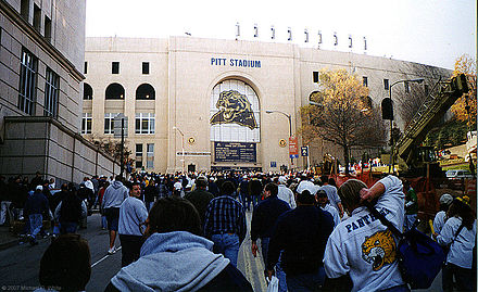 Pitt Stadium at the University of Pittsburgh prior to its last game — 1999