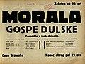 Plakat za predstavo Morala gospe Dulske v Narodnem gledališču v Mariboru 13. novembra 1929.jpg