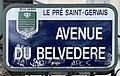 Plaque Avenue Belvédère - Le Pré-Saint-Gervais (FR93) - 2021-04-28 - 1.jpg