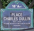 Plaque Place Charles Dullin - Paris XVIII (FR75) - 2021-08-04 - 1.jpg