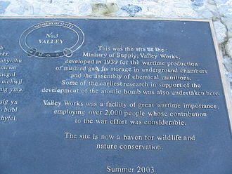 M. S. Factory, Valley - The Plaque outside the Rhydymywn Valley Nature Reserve