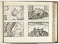 Plattegronden van Rosas, Gerona en andere plaatsen in Catalonië, 1726 Roses Montivich Girone Mont-Jouy (titel op object) Les Forces de l'Europe, Asie, Afrique et Amerique Comme aussi les Cartes des , RP-P-OB-83.036-187.jpg