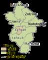 Podkarpackie - łańcucki county gminas.png