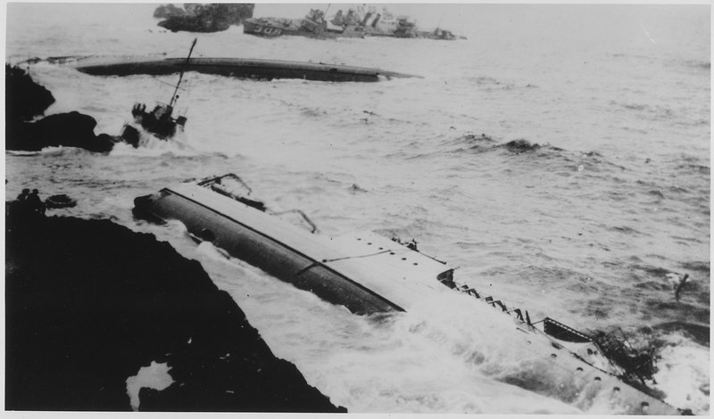 File:Point Honda wrecks, vessel. - NARA - 295528.tiff