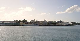 A view of Pointe-à-Pitre, from the seaport
