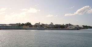 Pointe-à-Pitre - A view of Pointe-à-Pitre, from the seaport