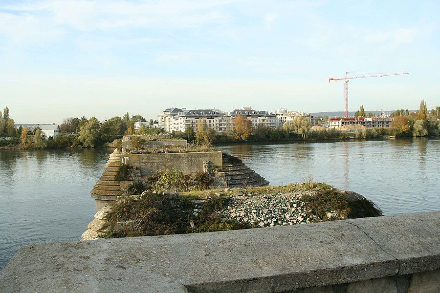 Ancien pont de Poissy - Yvelines (France)