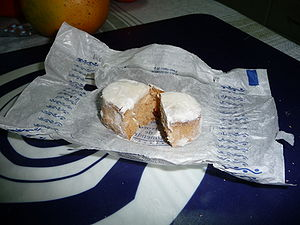 Polvorón - Polvorón on its paper wrapper