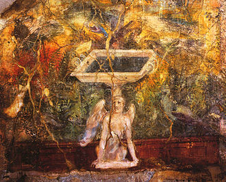 House of the Centenary - Painting of a fountain, from the nymphaeum