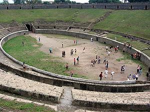 Amphitheatre of Pompeii - The Amphitheatre of Pompeii - interior