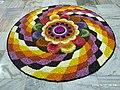 Поккалам (Онаппуккалам) Цветочный ковер в Ашраме Нитхьянанда Хосдург Канхангад 02.jpg
