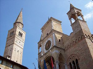 Pordenone - Pordenone City Hall and Campanile