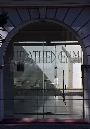 Port Elizabeth Athenaeum looking throught entrance to foyer and courtyard