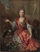 Portrait of a Woman, Possibly Madame Claude Lambert de Thorigny (Marie Marguerite Bontemps, 1668–1701), and an Enslaved Servant MET DP312828.jpg
