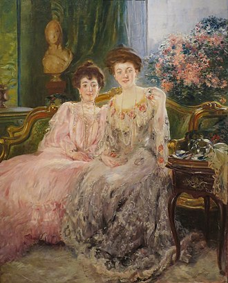 Paul-Albert Besnard - Portrait of the Kharitonenko Sisters (1903), Moscow, Pushkin Museum.