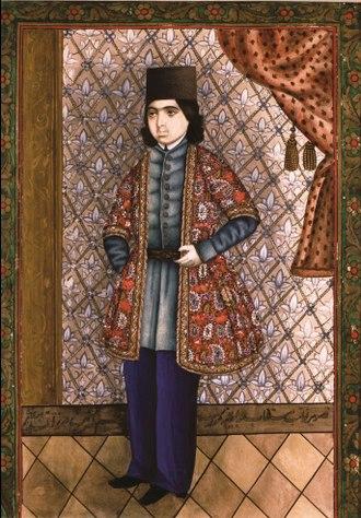 "Mirza Kadym Irevani - ""Portrait of young man"". The middle of the 19th century. Baku, Rustam Mustafayev Azerbaijan State Museum of Art"