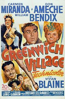 <i>Greenwich Village</i> (film) 1944 film by Walter Lang