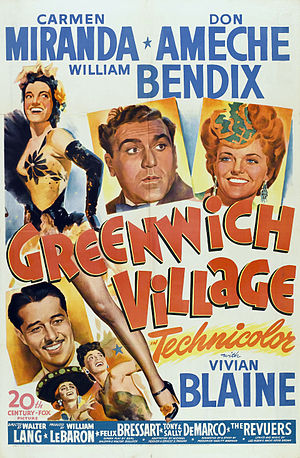 Greenwich Village (film) - Original teatral movie poster