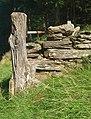 Postyn giat garw - A rustic gatepost - geograph.org.uk - 1453202.jpg