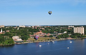 Poughkeepsie during its annual balloon festival