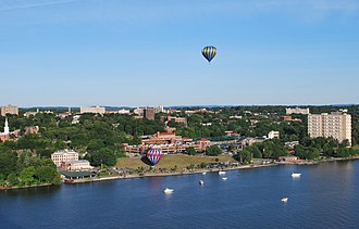 Poughkeepsie, New York - Poughkeepsie during its annual balloon festival