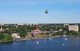 Poughkeepsie, New York - Poughkeepsie during its annual balloon festival