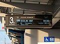 Praha-Holešovice, informační tabule na 3. nástupišti, zpoždění EC 170 Hungaria.jpg