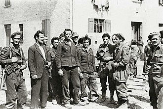 Operation Herring - German prisoners captured by italian paras (Mirandola, April 1945)