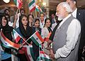 Prime Minister Narendra Modi at the Bhai Ganga Singh Sabha Gurudwara in Tehran.jpg