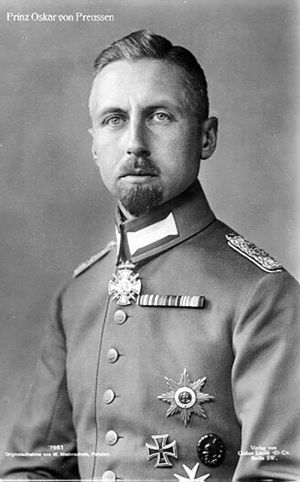 Prince Oskar of Prussia - Prinz Oskar, during the First World War