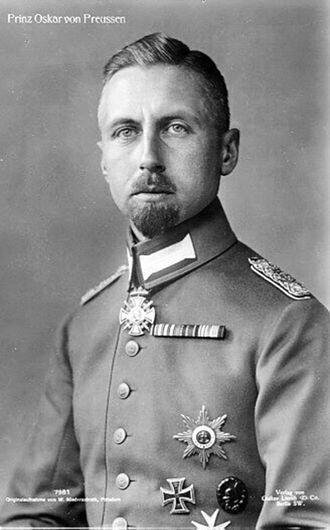 Prince Oskar of Prussia - Prinz Oskar, during the First World War