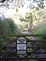 Private road doubling as public footpath - geograph.org.uk - 1028283.jpg