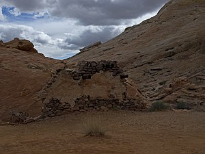 The Professionals (1966 film) - The remains of the set for the film (Mexican hacienda), Valley of Fire State Park