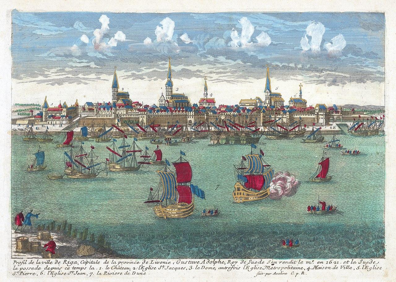 Профиль города Риги, Capitale de la Province de Livonie 1710.jpg