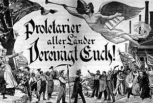 Proletarier aller Länder, vereinigt euch. Hoch die Sozialdemokratie!