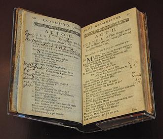 Rhadamistus - Opera Radamisto by George Frideric Handel, 1720.