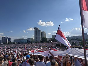 Protest actions in Minsk (Belarus) near Stella, August 16.jpg
