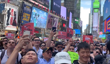 -États-Unis-Protest against the Hong Kong-China extradition law in NYC 20190609