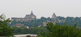 A general view of Provins from the north