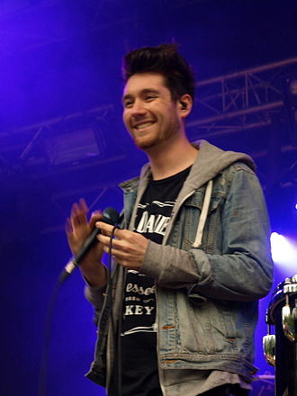 Bastille (band) - Dan Smith at Provinssirock festival 2013 in Seinäjoki, Finland