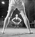 Pts For Lunch- Physical Training in the Canteen of a Southern Small Arms Factory, England, 1943 D13001.jpg