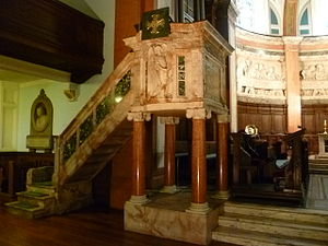 St Cuthbert's Church, Edinburgh - Pulpit of St. Cuthbert's Church