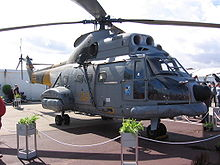 Aerospatiale Puma dell'801 Escuadrón de Fuerzas Aéreas dell' aeronautica (Ejército del Aire) spagnola, impiegato per ricerca e soccorso