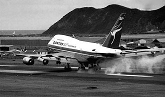 Boeing 747SP - A Qantas 747SP, the first 747SP to land at Wellington International Airport, New Zealand in 1981.
