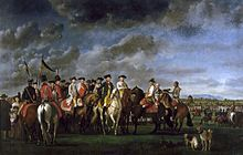Kaiser JosephII. mit Erzherzog Franz im Lager bei Minkendorf im November 1786, Gemälde von Martin Ferdinand Quadal (Heeresgeschichtliches Museum, Wien) (Quelle: Wikimedia)