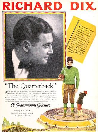 The Quarterback (1926 film) - Ad for film